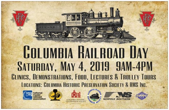 2019 Columbia Railroad Day Poster